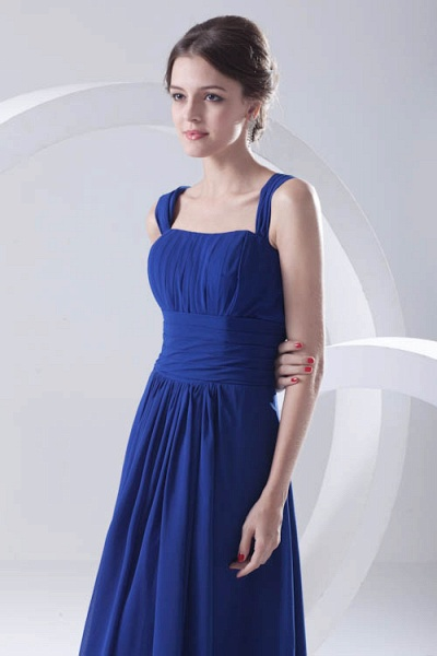 LEIGHTON | A Type A Collar Long SleevelessChiffon Royal Blue Bridesmaid Dress with Small folds_6