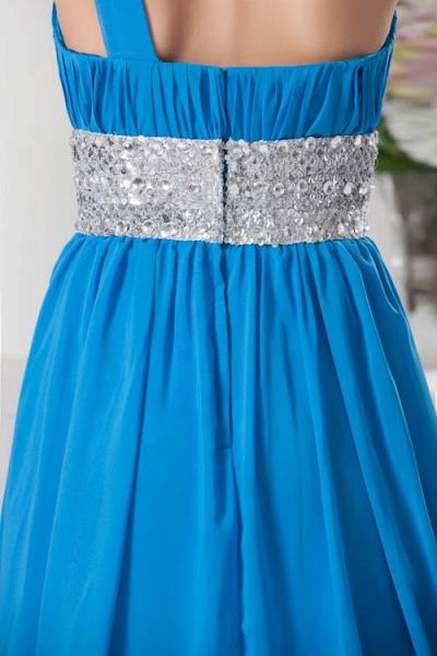 Amazing One Shoulder Chiffon A-line Bridesmaid Dress_3