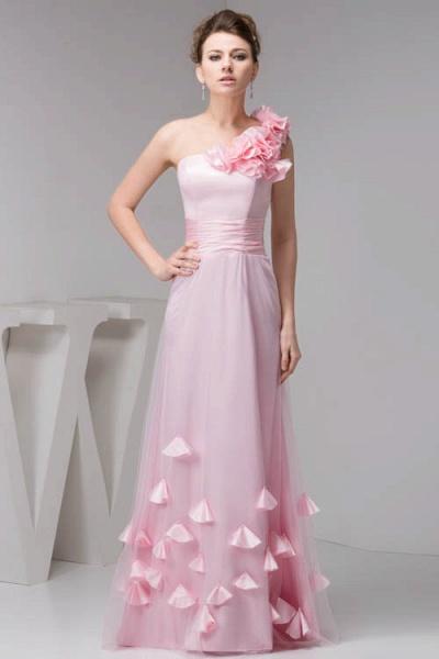 Amazing One Shoulder Chiffon Column Evening Dress_1