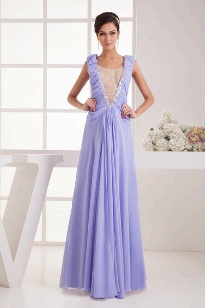 Fascinating Jewel Chiffon A-line Bridesmaid Dress_1