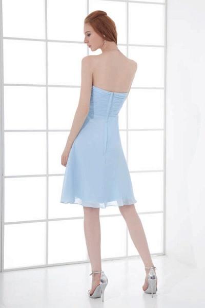 Sleek Strapless Chiffon A-line Bridesmaid Dress_3
