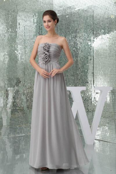 Awesome Strapless Chiffon A-line Bridesmaid Dress_5