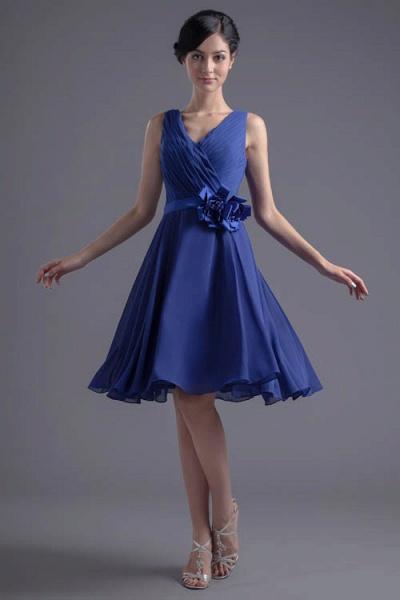 Excellent V-neck Chiffon A-line Bridesmaid Dress_9