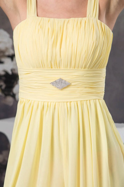 Eye-catching Straps Chiffon A-line Bridesmaid Dress_6