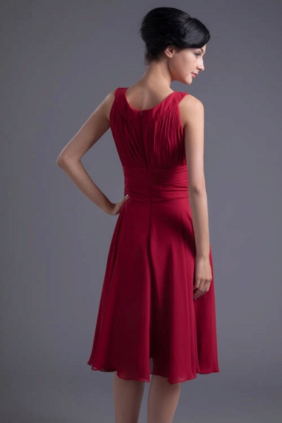 KYLIE | A Type Wide Shoulder Straps Chiffon Bridesmaid Dress with Zip?_3