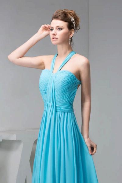 Excellent Halter Chiffon Princess Evening Dress_4