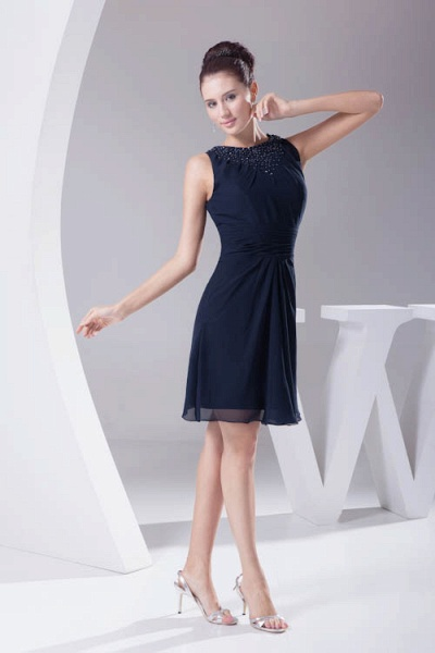 Graceful Jewel Chiffon A-line Bridesmaid Dress_7