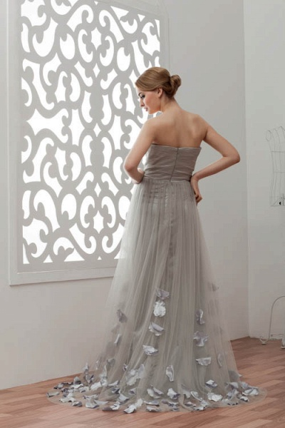 Strapless A-line Bridesmaid Dress_3