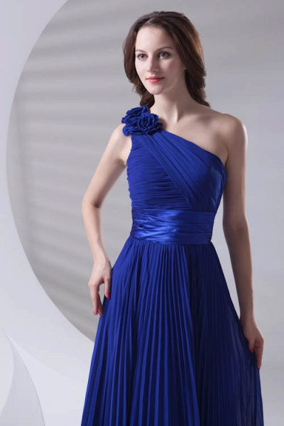 LILIANA | A-line One Shoulder Floor Length Chiffon Bridesmaid Dresses_8