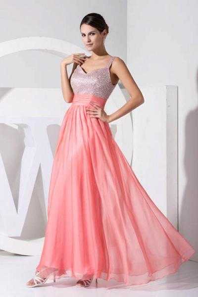 Attractive Straps Chiffon A-line Bridesmaid Dress_4