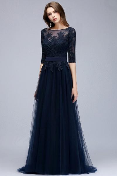 Sleek Jewel Tulle A-line Evening Dress_8