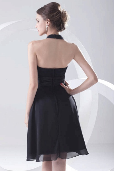 Elegant Halter Chiffon A-line Bridesmaid Dress_6