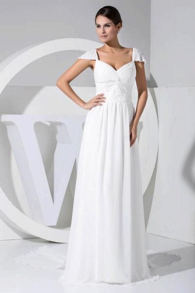 Attractive V-neck Chiffon A-line Bridesmaid Dress_1