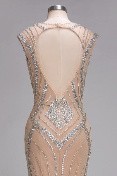 NAN | Mermaid V-neck Floor Length Sleeveless Sequins Prom Dresses_8