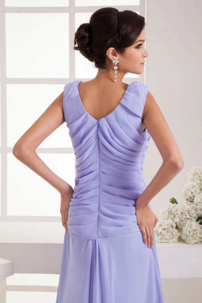 Fascinating Jewel Chiffon A-line Bridesmaid Dress_9