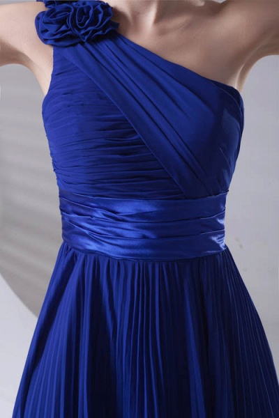 LILIANA | A-line One Shoulder Floor Length Chiffon Bridesmaid Dresses_4