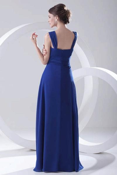 LEIGHTON | A Type A Collar Long SleevelessChiffon Royal Blue Bridesmaid Dress with Small folds_7