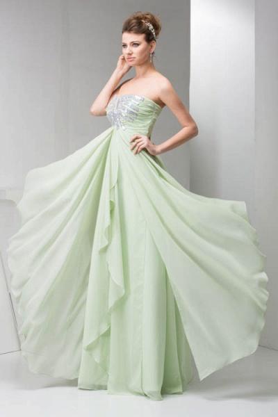 Marvelous Strapless Chiffon Princess Evening Dress_5