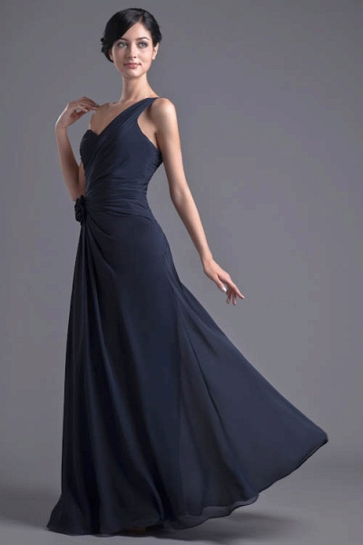 KYLEIGH | A Type One-shoulder Chiffon Bridesmaid Dress with Fold_5