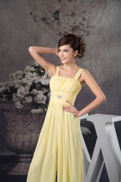Eye-catching Straps Chiffon A-line Bridesmaid Dress_7