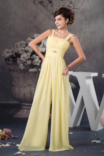 Eye-catching Straps Chiffon A-line Bridesmaid Dress_8