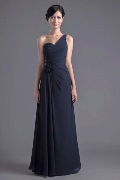 KYLEIGH | A Type One-shoulder Chiffon Bridesmaid Dress with Fold_9
