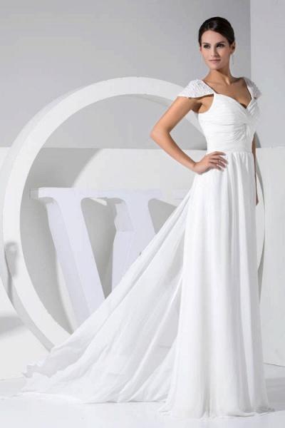 Attractive V-neck Chiffon A-line Bridesmaid Dress_5