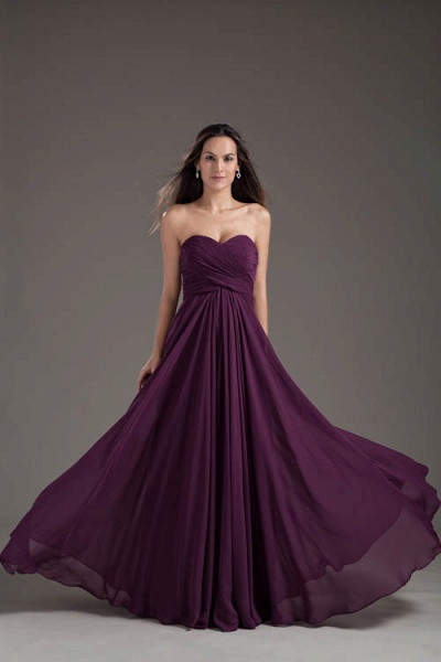 Awesome Sweetheart Chiffon A-line Bridesmaid Dress_6