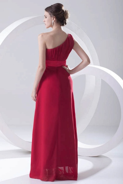 Excellent One Shoulder Chiffon A-line Bridesmaid Dress_3