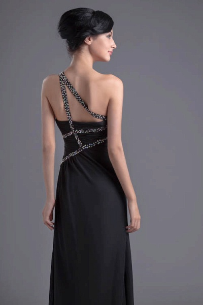 Fascinating One Shoulder Chiffon A-line Bridesmaid Dress_7