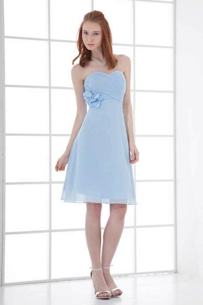 Sleek Strapless Chiffon A-line Bridesmaid Dress_4