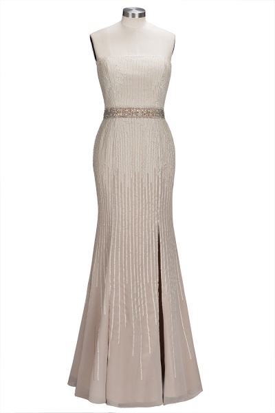 OLIVE | Mermaid Strapless Long Sequined Bridesmaid Dresses with Crystal Sash_1