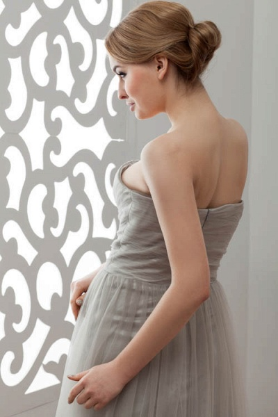Strapless A-line Bridesmaid Dress_11