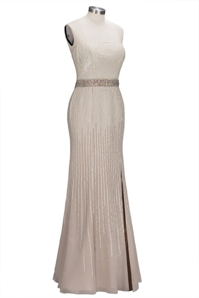 OLIVE | Mermaid Strapless Long Sequined Bridesmaid Dresses with Crystal Sash_4