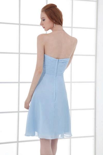 Sleek Strapless Chiffon A-line Bridesmaid Dress_8
