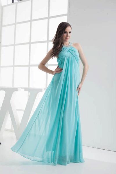 Strapless Column Ankle Length Bridesmaid Dress_5