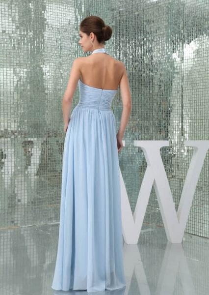 Precious Halter Chiffon A-line Bridesmaid Dress_9
