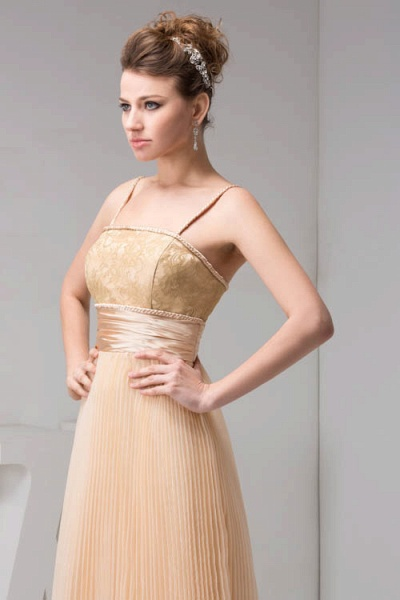 Graceful Spaghetti Straps Chiffon Princess Evening Dress_3