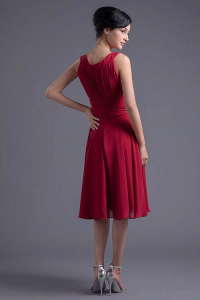 KYLIE | A Type Wide Shoulder Straps Chiffon Bridesmaid Dress with Zip?_7
