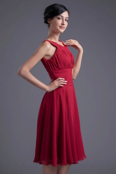 KYLIE | A Type Wide Shoulder Straps Chiffon Bridesmaid Dress with Zip?_1
