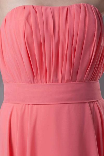 LILIAN | A-line Strapless Sleeveless Floor Length Chiffon Bridesmaid Dresses_5