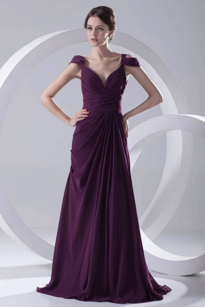 Glorious V-neck Stretch Satin A-line Bridesmaid Dress_5
