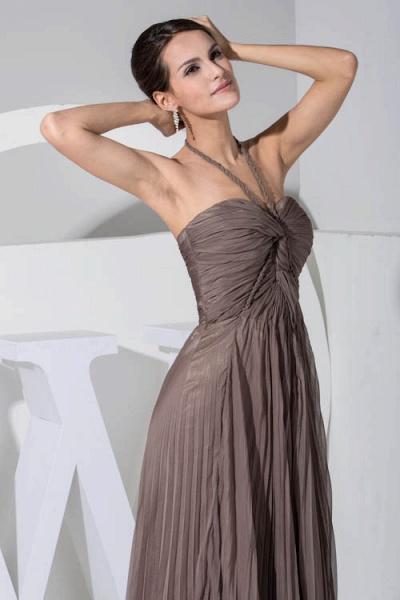 Excellent Halter Chiffon A-line Bridesmaid Dress_7