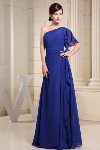 KIRA | A Type One Shoulder Chiffon Bridesmaid Dress with Fold_4