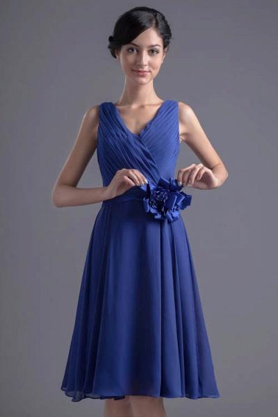 Excellent V-neck Chiffon A-line Bridesmaid Dress_5