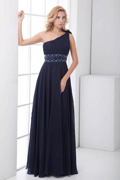 Fascinating One Shoulder Chiffon A-line Bridesmaid Dress_10