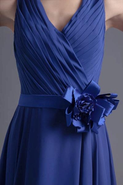 Excellent V-neck Chiffon A-line Bridesmaid Dress_8