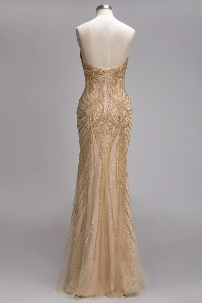 PRUDENCE | Mermaid Strapless Sweetheart Long Sequined Prom Dresses with Crystals_3