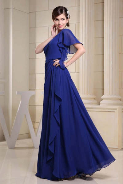 KIRA | A Type One Shoulder Chiffon Bridesmaid Dress with Fold_5