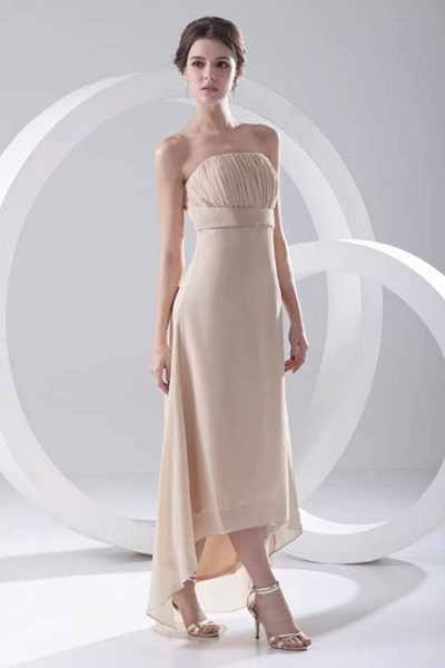 LILIA | A-line High-Low Sleeveless Chiffon Bridesmaid Dresses_7